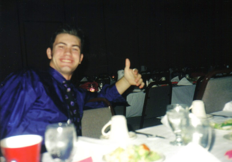 Sophomore Year - OX Fall Formal - Kurt and his date, ha!