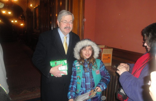 The Governor Buys Some Girl Scout Cookies