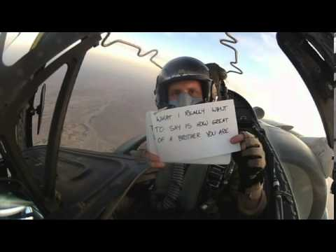 Brother Sends Wedding Wishes While Flying Jet