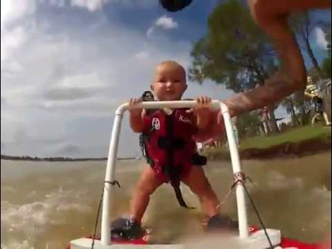 Baby Learns to Waterski