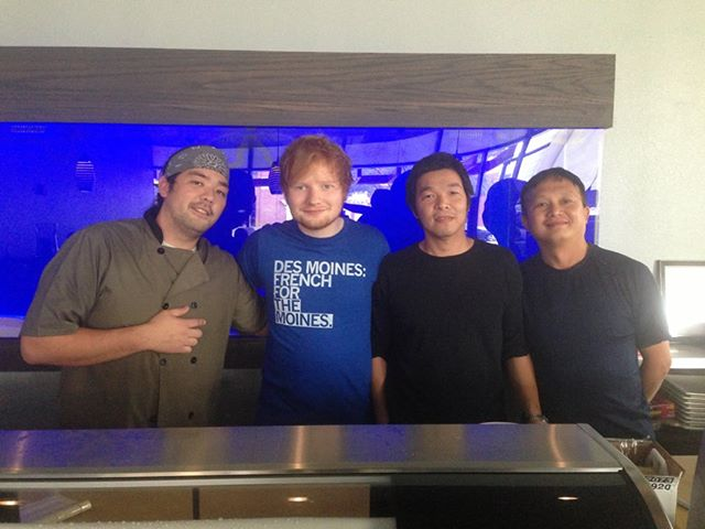 Ed Sheeran at Akebono