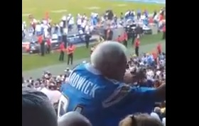 Video: Dancing Elderly Football Fan