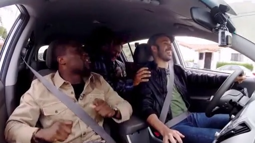 Video: Conan, Kevin Hart, and Ice Cube Ride Together