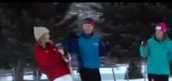 Video: Reporter Faints While On Skis