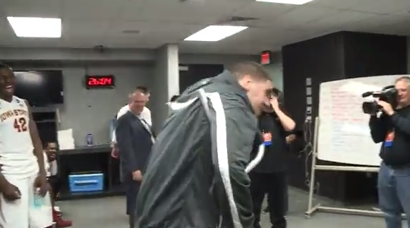 Georges Niang Breaks Out a One-Footed Rap